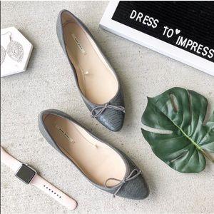 Zara // Snake Skin Gray Flats